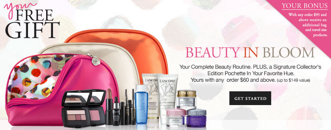 Lancome gift with purchase - 5 pcs with ANY purchase + 6 more with ...