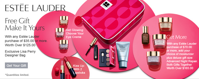 Estee Lauder gift with purchase - 7 pcs with $35 purchase and more ...