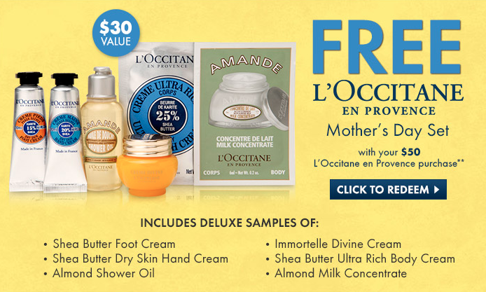 L'Occitane gift with purchase - 7 pcs with $50 purchase ($49 value ...
