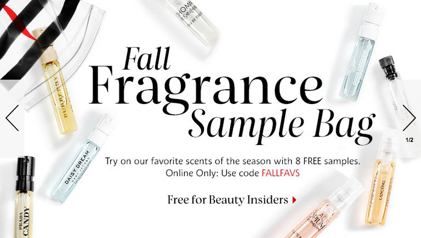 Sephora FREE 8 fragrance sample bag with $25 purchase OR 3 pcs Ole ...