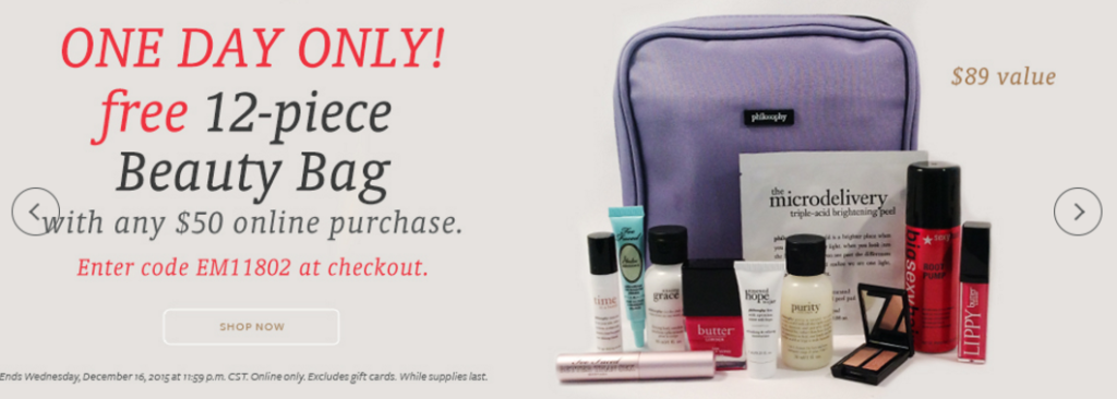 Beauty Brands Free 12 pcs beauty bag w/$50 purchase | Gift With ...