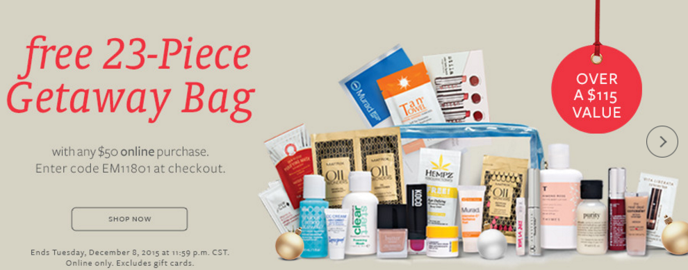 Beauty Brands gift with purchase - 23 pcs with $50 purchase ($115 ...