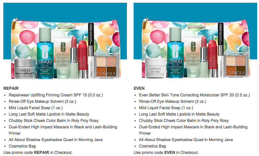 Clinique gift with purchase - 8 pcs gift with $29 purchase - Gift With Purchase