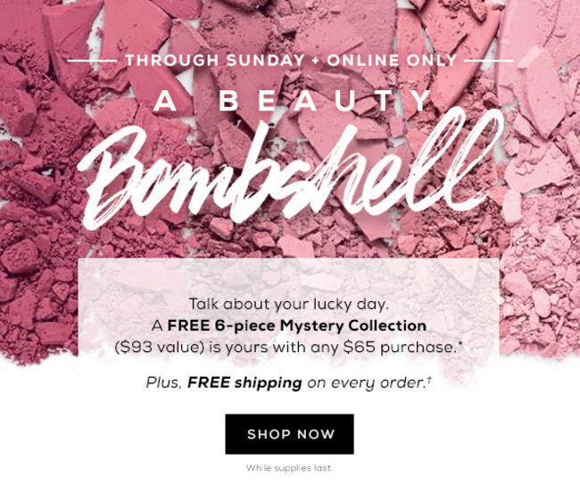 bareMinerals Free 6-pc Mystery gift with $65 purchase + free shipping on any purchase - Gift With Purchase