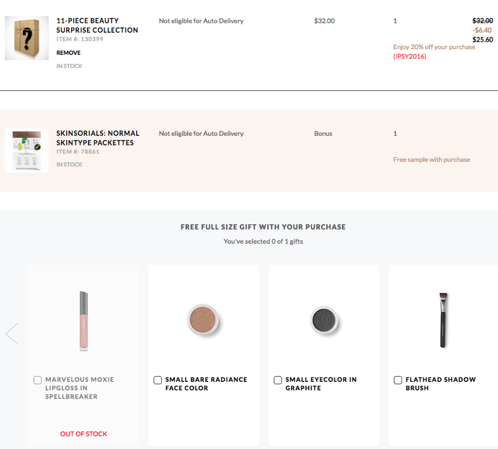 UPDATE 7/26: *HOT* bareMinerals 11 pcs Beauty Surprise Collection for $32 + 1 free full size w/$25 purchase + 2 pcs mystery gift with $50 purchase - Gift With Purchase