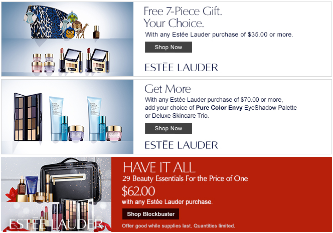 Estee Lauder Blockbuster Set + GWP - Gift With Purchase