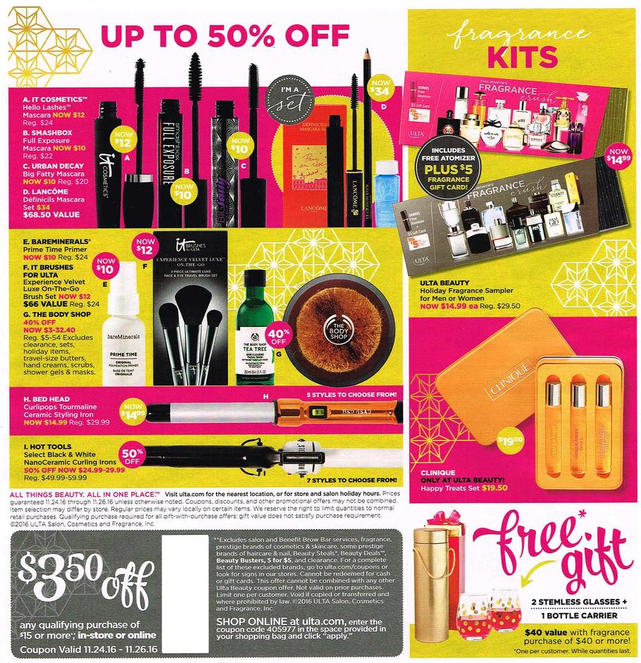 Ulta Black Friday 2016 Ad | Gift With Purchase