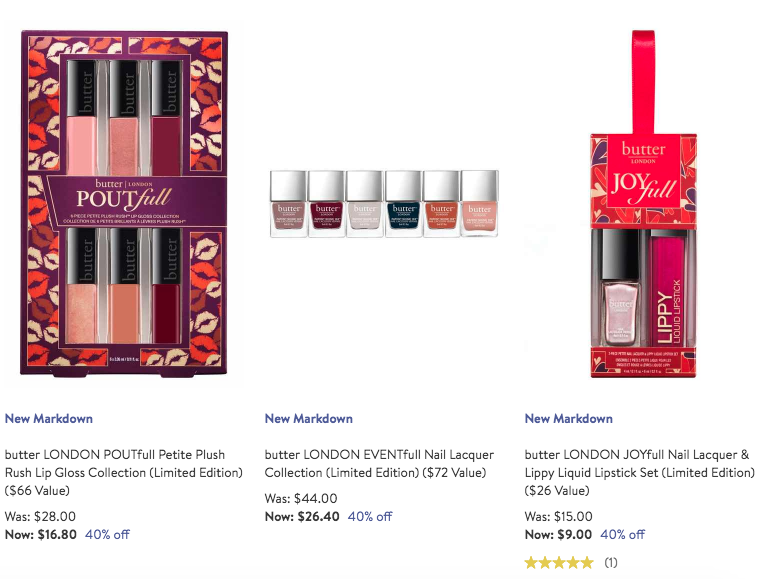 Nordstrom: Select butter London 40% off - Gift With Purchase