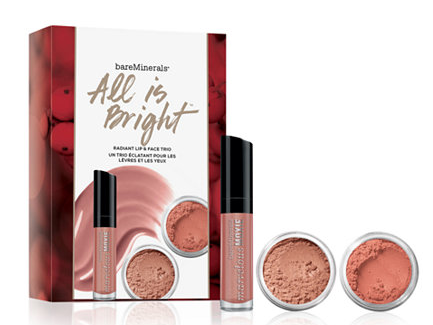 Macy's: BareMinerals 3-Pc. All Is Bright Radiant Lip & Face Makeup Set only $10 shipped ($37 value) - Gift With Purchase