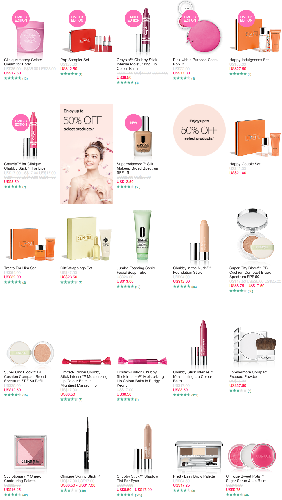 Clinique 50% off sale + free 4 pcs gift w/$35 purchase + more - Gift With Purchase