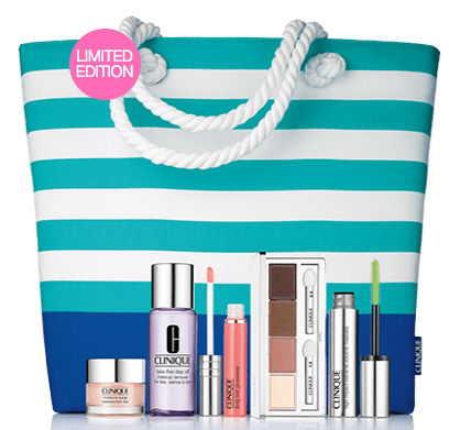 Clinique: new 50% off items - 7 pcs Summer In Clinique Kit is only $17.25(reg.$34.5) - Gift With Purchase
