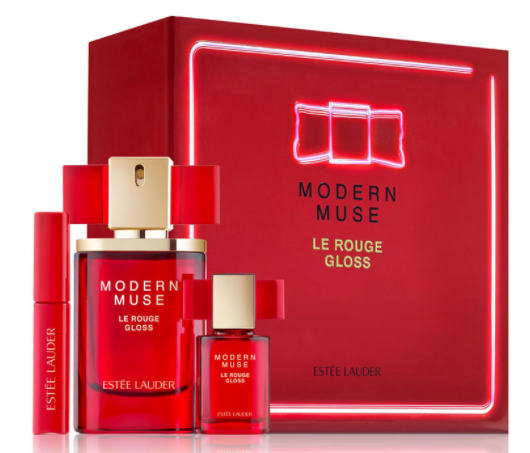Von Maur: Estée Lauder Modern Muse Le Rouge Gloss 3 pcs kit only $46(was $65) + 7 pcs gift set + free shipping - Gift With Purchase