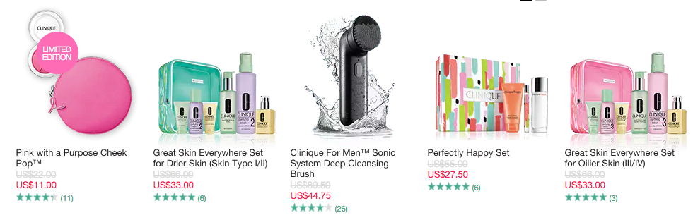 Clinique: 50% off sale - Gift With Purchase