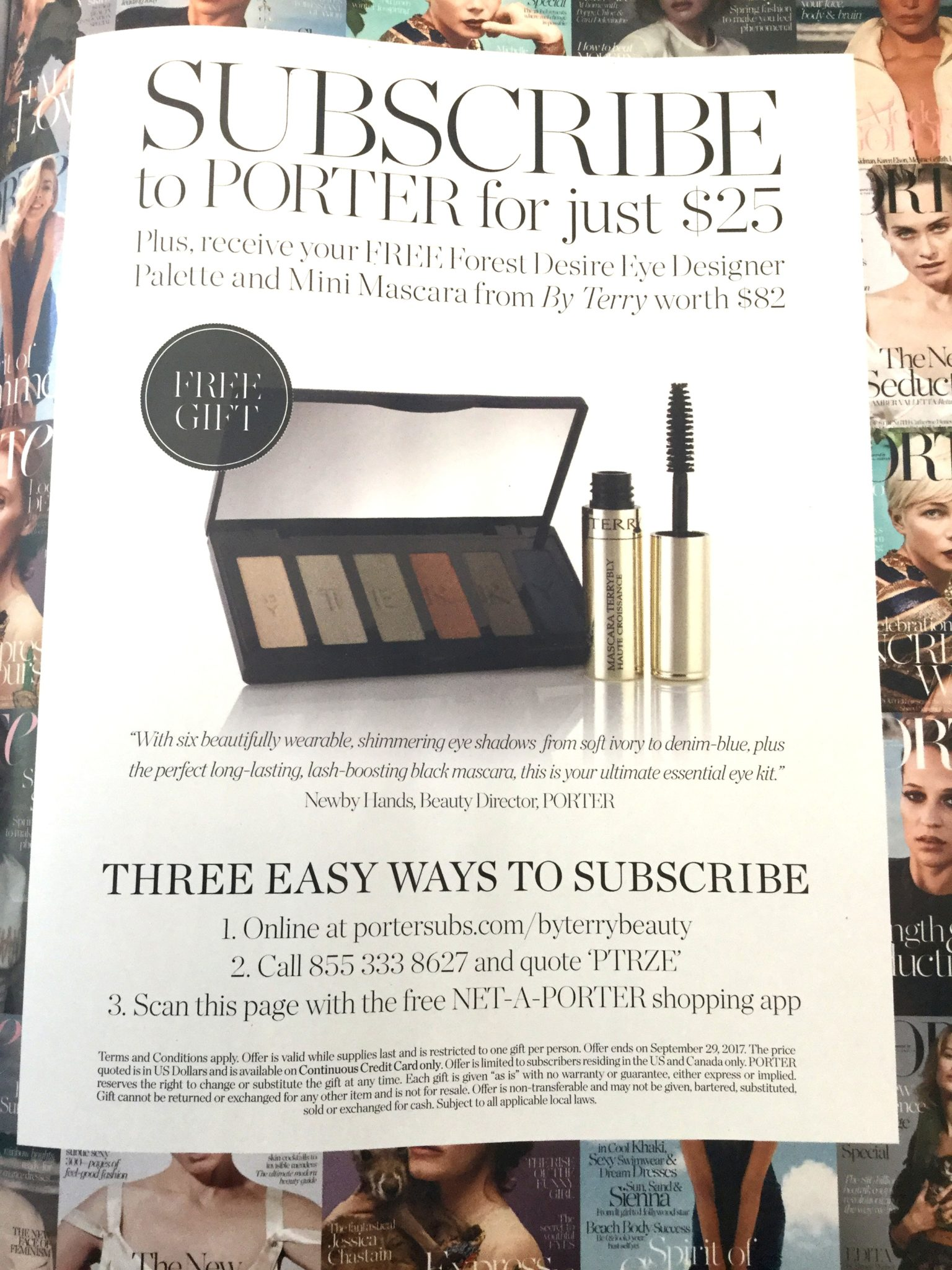Free Full Size By Terry Shadow Palette W Porter Magazine