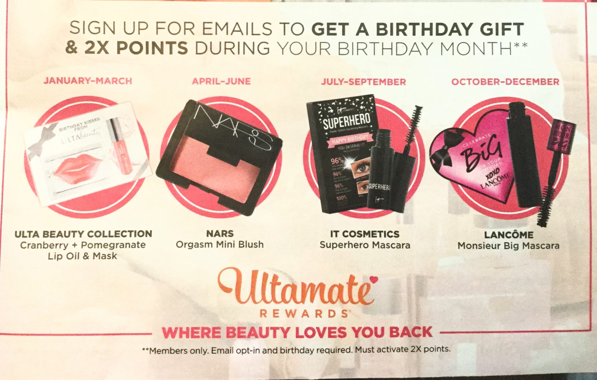 Ulta Birthday Gifts 2018 - Gift With